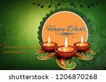 diwali is the hindu festival of ... | Shutterstock . vector #1206870268
