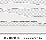 torn paper with shadow on... | Shutterstock .eps vector #1206871462