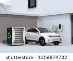 electric vehicle recharging in... | Shutterstock . vector #1206874732