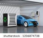 electric vehicle recharging in... | Shutterstock . vector #1206874738