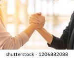 business partnership promise... | Shutterstock . vector #1206882088