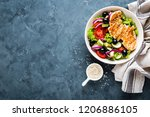 grilled chicken breast with... | Shutterstock . vector #1206886105
