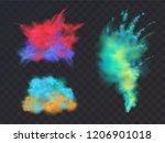 vector realistic set of... | Shutterstock .eps vector #1206901018