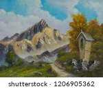Painting In Oil Colors Of A...