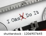 can't crossed out to read i can ... | Shutterstock . vector #1206907645