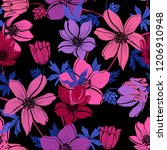 elegant seamless pattern with... | Shutterstock . vector #1206910948