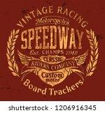 board tracker speedway... | Shutterstock .eps vector #1206916345