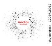 spray ink paint round grunge...   Shutterstock .eps vector #1206918052