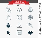 web icons set with cloud  group ... | Shutterstock . vector #1206918958