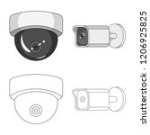 vector illustration of cctv and ...