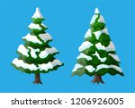 christmas tree covered with... | Shutterstock .eps vector #1206926005