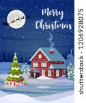 new year and christmas winter... | Shutterstock .eps vector #1206928075