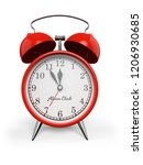 red retro alarm table clock... | Shutterstock . vector #1206930685