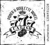 casino gambling emblem on... | Shutterstock .eps vector #1206931228