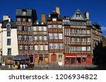 half timbered house ... | Shutterstock . vector #1206934822