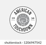 black on white american...   Shutterstock .eps vector #1206947542