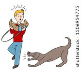 an image of a agressive barking ... | Shutterstock .eps vector #1206954775