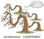 an image of a twisted trees and ... | Shutterstock .eps vector #1206954802