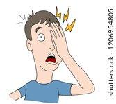 an image of a injured eye man... | Shutterstock .eps vector #1206954805