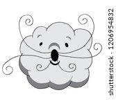 an image of a cloud cartoon... | Shutterstock .eps vector #1206954832