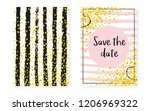 bridal shower set with dots and ... | Shutterstock .eps vector #1206969322