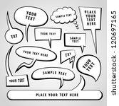 vector doodle speech bubbles. | Shutterstock .eps vector #120697165