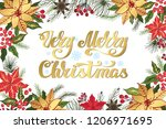 christmas party invitation... | Shutterstock .eps vector #1206971695