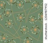 cute dandelion blowing vector... | Shutterstock .eps vector #1206987952