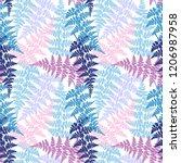 fern frond herbs  tropical... | Shutterstock .eps vector #1206987958