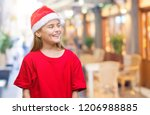young beautiful girl wearing... | Shutterstock . vector #1206988885