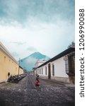 anitgua  guatemala   10 aug... | Shutterstock . vector #1206990088