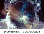 dark nebula and stars in space  ...   Shutterstock . vector #1207000075