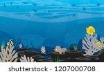plastic pollution illustration... | Shutterstock .eps vector #1207000708