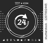 open around the clock symbol...   Shutterstock .eps vector #1207002445