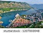 view to kotor bay  montenegro   Shutterstock . vector #1207003048