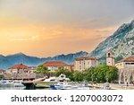 sunset in kotor bay  montenegro   Shutterstock . vector #1207003072