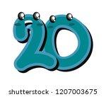 number twenty cartoon on white...   Shutterstock .eps vector #1207003675