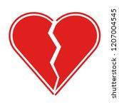 flat icon red heartbreak.... | Shutterstock .eps vector #1207004545