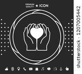 hands holding heart  ... | Shutterstock .eps vector #1207005442