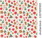 christmas texture  new year... | Shutterstock .eps vector #1207005505