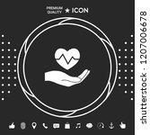 hand holding heart. medical icon | Shutterstock .eps vector #1207006678