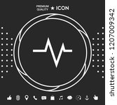 ecg wave   cardiogram symbol.... | Shutterstock .eps vector #1207009342