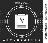 electrocardiogram symbol icon | Shutterstock .eps vector #1207009345