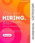 vector we are hiring typography ... | Shutterstock .eps vector #1207010185