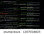 light trails on dark background | Shutterstock . vector #1207018825