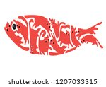 playing cats in the form of fish | Shutterstock .eps vector #1207033315