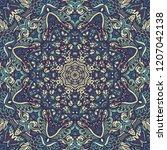 kaleidoscopic doodle abstract...   Shutterstock .eps vector #1207042138