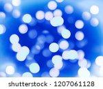 a winter festive bokeh design... | Shutterstock . vector #1207061128