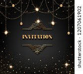 vip invitation template with... | Shutterstock .eps vector #1207061902
