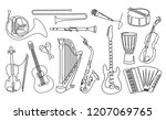 continuous line drawing of...   Shutterstock . vector #1207069765